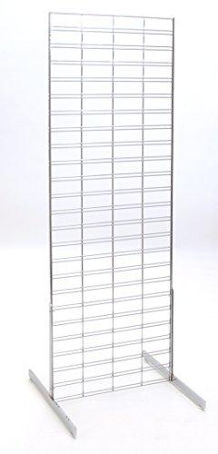 KC Store Fixtures 05311 Slatgrid Unit, 2' x 6', Chrome by KCF