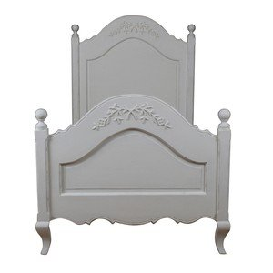 Single Bed Frame Shabby Chic Soft Ivory Solid Wood Amazon Co Uk