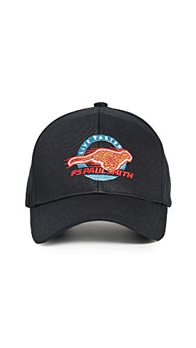 PS Paul Smith Men's Cheetah Baseball Cap, Black, One Size