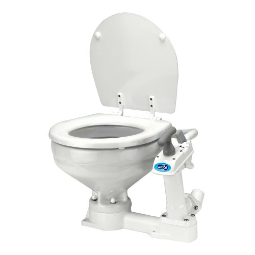 Jabsco 29090-3000, Twist 'n' Lock Manual Head, Marine Toilet, Compact Bowl