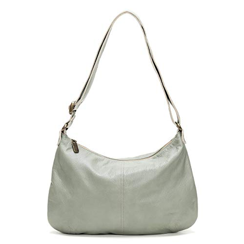 - Mint Italian Leather Hobo Crossbody Bag