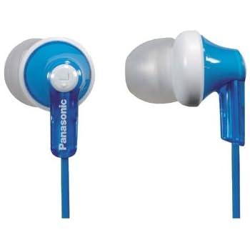 Panasonic ErgoFit In-Ear Earbud Headphones RP-HJE120-A (Blue) Dynamic Crystal Clear Sound, Ergonomic Comfort-Fit