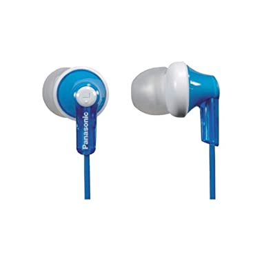 Panasonic ErgoFit In-Ear Earbud Headphones RP-HJE120-A (Blue) Dynamic Crystal Clear Sound, Ergonomic Comfort-Fit
