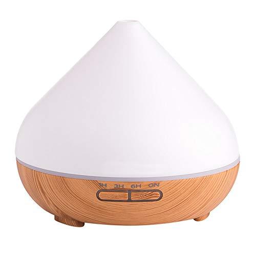 Kanzd Wood Grain Home Diffuser Ultrasonic Air Humidifier Purifier High Capacity 300ml (C)