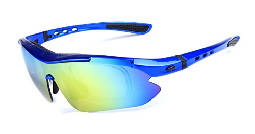 GAMT Polarized Sports Sunglasses Blue With 5 Pcs Lenses for Christmas - Goggles What Polarized Is
