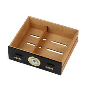 Pevor Black humidor Cigar Cabinet high-Quality Multiple Lacquer Finish Cedar Wood 3 Cigarette Storage Box case Lighter by Pevor (Image #2)