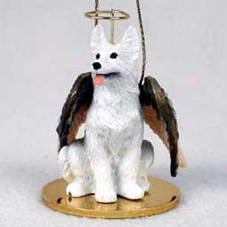 (1 X German Shepherd Angel Dog Ornament - White)