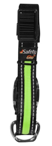 SafetyGlo Collar, Large, Black/Green, My Pet Supplies