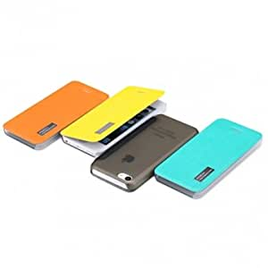 ROCK Fashion Design PU Leather Protector Case For iPhone 5C --- Color:Orange