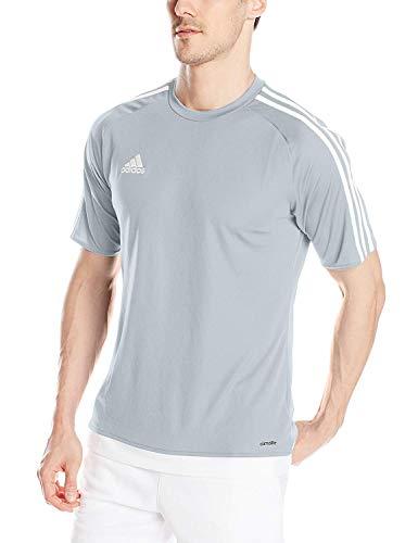 adidas Kids Soccer Estro Jersey, Light Grey/White, Small