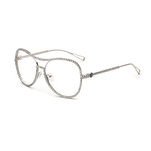 dking-classic-vintage-style-metal-frame-aviator-clear-lens-glasses-eyeglasses-silver