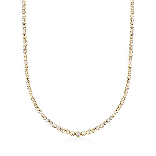 Ross-Simons 3.00 ct. t.w. Graduated Diamond Tennis Necklace in 14kt Yellow Gold