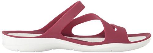 Sandals Pomegranate Women White Fashion Swiftwater Crocs cqpyAF40y