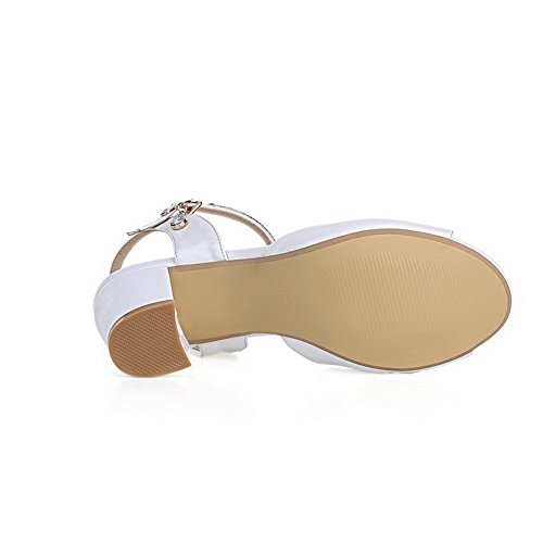 US Soft 8 Girls Fashion M Solid White B Material 1TO9 Sandals 1qWwpORpn