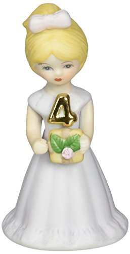 "Enesco Growing Up Girls ""Blonde Age 4"" Porcelain Figurine, 3.5"" - Porcelain Girl"