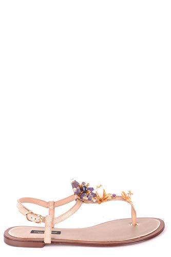 Pink Gabbana Dolce Dress - Dolce e Gabbana Women's Mcbi35156 Pink Leather Sandals