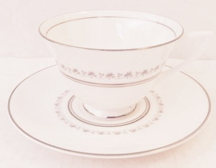 Royal Doulton Tiara Footed Cup & Saucer Set