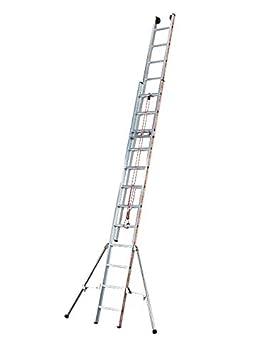 Tubesca - Echelle coulissante à corde 3 plans 14+14+14 échelons Haut ... 0307d218b196