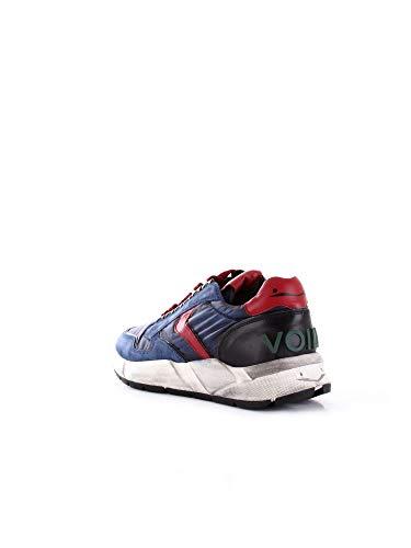 Pelle Uomo Blu Sneakers Blanche 201327101 Voile qIFRUE
