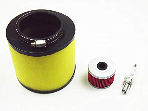 Air Filter, Oil Filter & Spark Plug Fit for Honda Rancher 350, Foreman 400&450