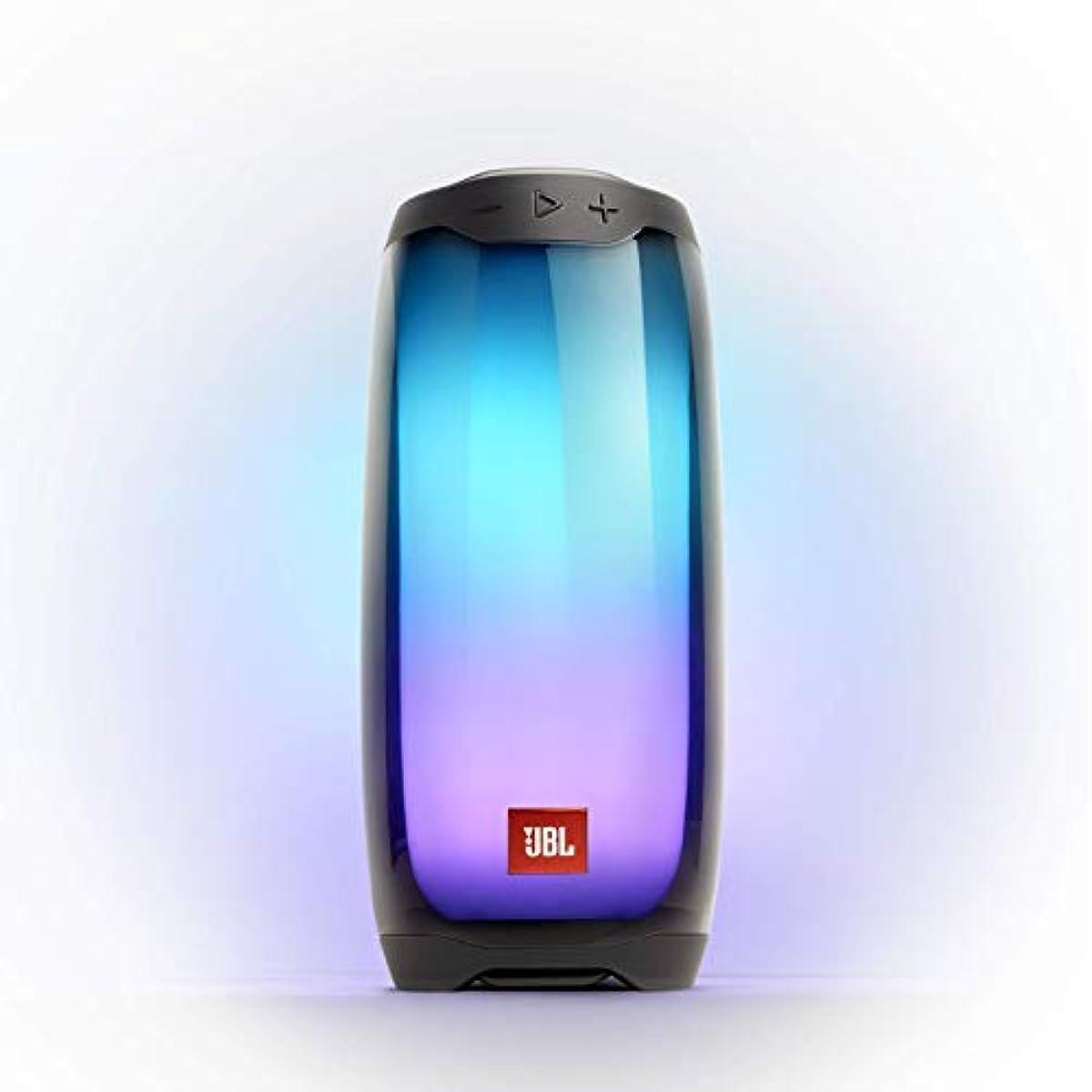 [해외] JBL PULSE 4 블루투스 스피커, 멀티 컬러 LED 블랙 JBLPULSE4BLK