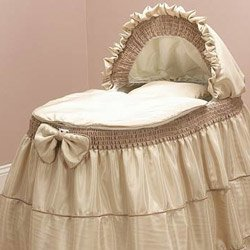 Babykidsbargains Unisex Baby Bassinet Liner Skirt and Hood, 13'' x 29''