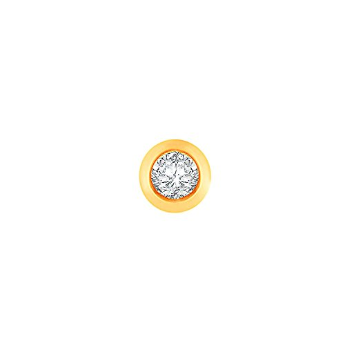 Avnni Modern 18k Yellow Gold and Diamond Nose Pin