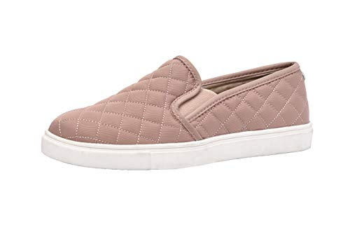 CUSHIONAIRE Women's Reed Comfort Quilted Sneaker, Blush, 9
