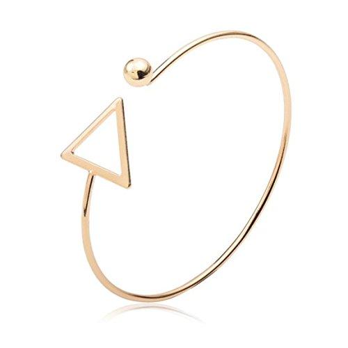 Pretty Hollow Triangle Arm Cuff Armlet Armband Bangle Bracelet (Gold) (Arm Band Jewelry)