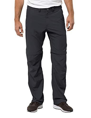 Jack Wolfskin Men's Canyon Zip Off Pants Men's Nylon Travel Pants UV Protection, Phantom, 94 (U Small 32/33)