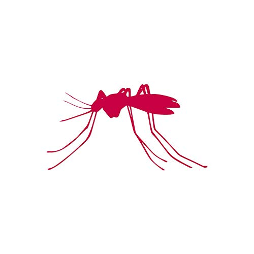 "Mosquito Insect - Vinyl Decal Sticker - 7"" x 3.75"" - Red from Southern Decalz"