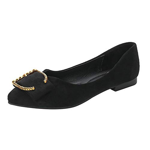 Meeshine Womens Casual Pointed Toe Ballet Comfort Soft Slip On Flats Shoes by