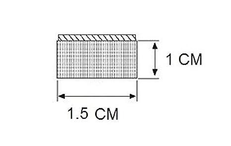 Esponja de goma con sello s/ólido 1 cm de altura x 1,5 cm de ancho, burlete universal de extrusi/ón de neopreno