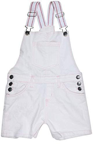 dELiAs Girls Bib Overall Denim Shorts with Adjustable Straps, White Denim, Size 7'