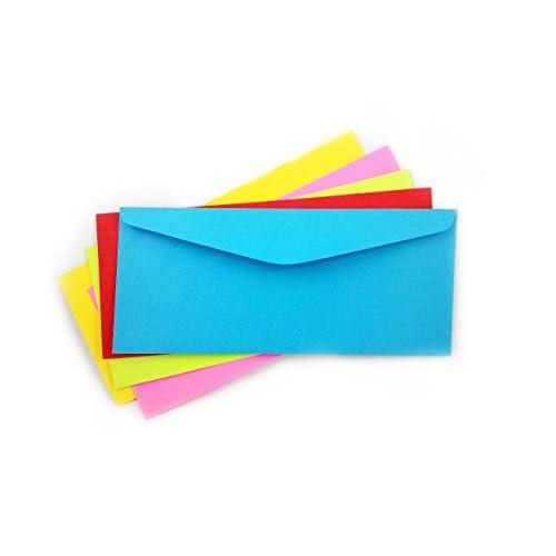 # 10 Envelopes Bright Colors-Multi Color Pack Envelope-5 Color Pack 50 Envelopes-Multi Color pack