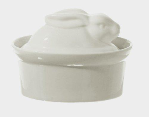 Shaped Casserole Dish (La Porcellana Bianca White Porcelain Rabbit Shaped Casserole Dish Terrine P001501016)