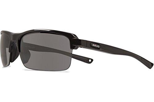 Revo Mens Crux N RE4066-01 Polarized Iridium Sport Sunglasses,Polished Black,55 - Sport Revo