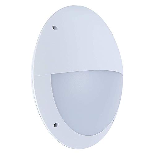 - Zip-LED Waterproof LED Wall Sconce Bulkhead in White, Vandal Resistant Polycarbonate Plastic, 18W 4000K Natural White 1440 Lumen, TRIAC Dimmable, IP66