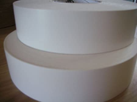 Iron-On Pre-Glued Melamine Edging Tape, 48mm: White, Smooth, 5 Metres. Ideal for Wortops. Veneers Online