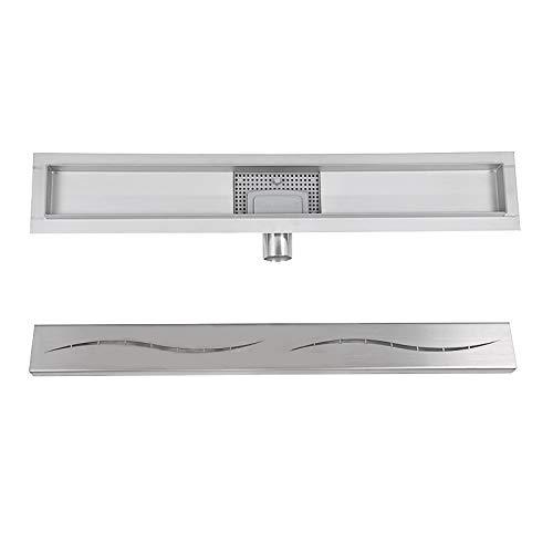 Edelstahl Duschrinne Bodenablauf Ablaufrinne Randablauf Badezimmer satiniert silber 60cm