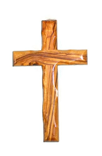 (Olive Wood Christian Wall Cross Handcrafted in Bethlehem)