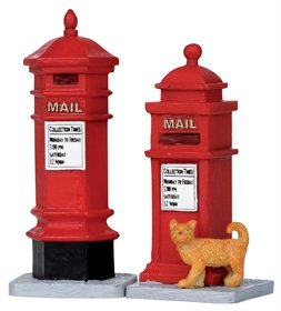 Lemax 2011 Coventry Cove Victorian Mailboxes Set of 2 Village - Lemax Village Houses