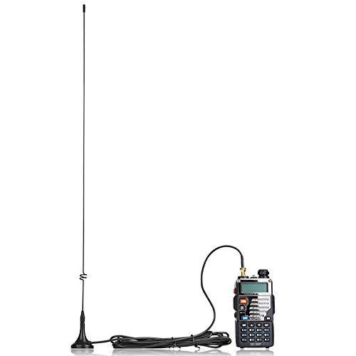 "Original UT-108UV Radio Antenna, SMA Female 15.6"" Whip High Gain VHF/UHF (144/430 Mhz) primary"