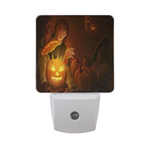 Night Light Halloween Cute Girl Led Light Lamp for Hallway, Kitchen, Bathroom, Bedroom, Stairs, DaylightWhite, Bedroom, Compact -