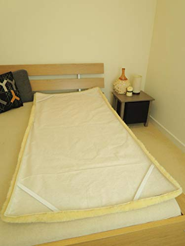 MILABERT Genuine Medical Rectangular Sheepskin Bed pad Underlay Mattress - Pressure Relief - Premium Quality by MILABERT (Image #2)