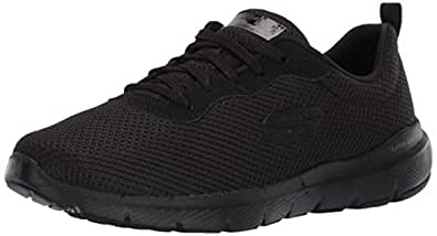 Skechers Sport Flex Appeal 3.0-First Insight Women's Sneaker 5 B(M) US Black-Black