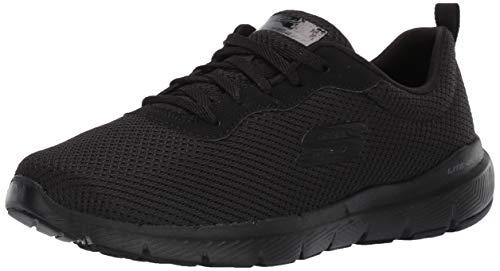 Skechers Women's Flex Appeal 3.0-First Insight Sneaker, Black, 12 M US