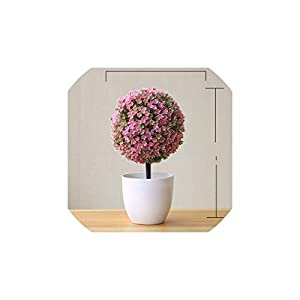 Artificial Flowers Bonsai Bright Color Fake Artificial Plants Potted Plants Home Wedding Garden Decorations 117