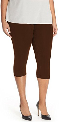 Lush Moda Extra Soft Leggings  Brown One Size fits Most (XL - 3XL)