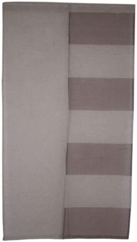 Noren Japanese Doorway Curtain Brown Beige Border Polyester Linen 85x150cm